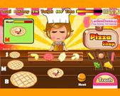 Cute girls pizza shop online játék