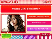 Quiz do you know Demi Lovato online játék